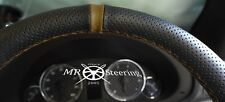 Para 03-09 Mazda 3 MK1 Real Cuero Perforado Volante Cubierta + Correa Marrón