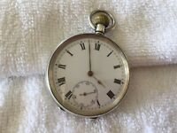 Antique solid silver pocket watches