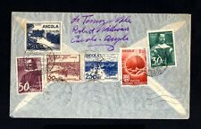 S144-ANGOLA-AIRMAIL COVER NOVA LISBOA to BRUSSELS (belgium) 1949 WWII Portugal