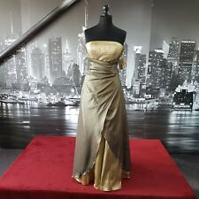 DESIGNER CARDUCCI SEQUINNED DRESS (Antique Gold-Size 10-A-139)  Tag £225