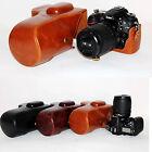 New Leather case bag for Nikon DSLR  D7000 D7100  camera black