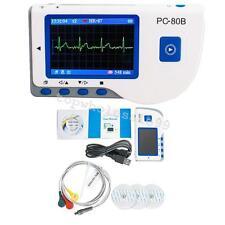 PC-80B Color LCD ECG Machine EKG Heart Monitor Test Sensor +Pin lead Wire+Pads