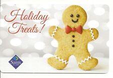 Sam's Club Gingerbread Man Holiday Treats! Christmas 2014 Gift Card FD-43522