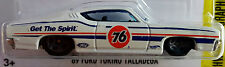 Hot Wheels 2016 HW Speed Graphics '69 Ford Torino Talladega White 76 Racing 1:64