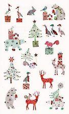 Mrs. Grossman's Turnowsky Stickers - Holiday Friends - Deer, Bear - 2 Strips