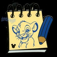 Disney Pin WDW 2014 Hidden Mickey Series *Sketch Pads* Lion King Simba!