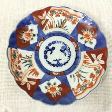 More details for antique japanese porcelain plate imari hand painted birds blue red white