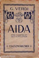 1942 libretto teatro- Giuseppe Verdi - AIDA - A.Ghislanzoni