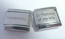 IN MEMORY OF MY WIFE 9mm Italian Charm + 1x Nomination Classic Link I LOVE N112