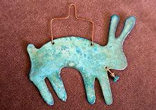 RABBIT HARE Copper Verdigris Christmas Ornament Handcrafted Arizona Southwest