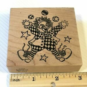 PSX Clown G053 Rubber Stamp Birthday Parties Cards Invitations