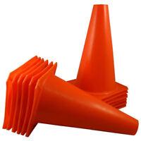 "7"" Orange Training Cones Soccer Coach Sports Field marker Traffic Safety 12Pcs"
