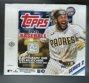2021 Topps Series 2 Baseball Jumbo Hobby Box - Factory Sealed