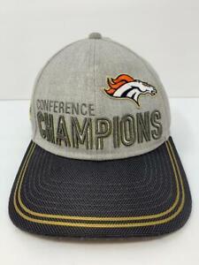 Denver Broncos Conference Champions Super Bowl 50 Hat Adjustable Strap Gray NFL