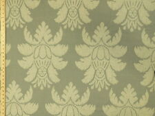 Woven Tone on Tone Large Ikat Medallion Floral Icy Blue linen Upholstery Fabric