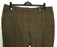 M&S Ladies Trousers Brown Slim Leg Wool Mix 22R BNWT Marks Autograph £59