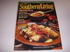 SOUTHERN LIVING Magazine, February, 1998, SOUTHWESTERN CORNBREAD CREPES, GARDENS