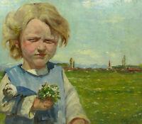 Portrait Oil Painting Picture um 1900 Sign W.Lehmann NKi-13