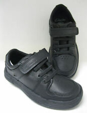 Leather Upper Wide Shoes for Boys with Hook & Loop Fasteners