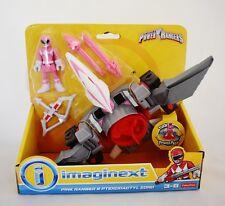 Fisher Price Saban's Power Rangers Imaginext Pink Range & Pterodactyl Zord