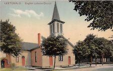 E85/ Leetonia Ohio Postcard Columbiana County c1910 English Lutheran Church 9