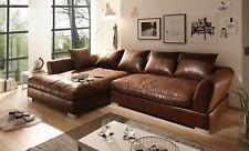 BIG Sofa - Vintage Braun - Links - Modell MAXIMUS (Sondermaße möglich )