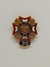Vintage Veterans Of Foreign Wars VFW 30 Year Member Award Lapel Pin Tie Tack Hat