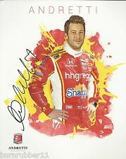 "SIGNED 2016 MARCO ANDRETTI ""HH GREGG"" #27 VERIZON INDY CAR HANDOUT/POSTCARD"