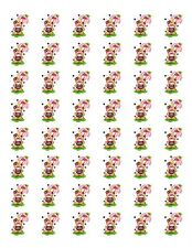 "48 CUTE COUNTRY BEAR LADYBUG ENVELOPE SEALS LABELS STICKERS 1.2"" ROUND"