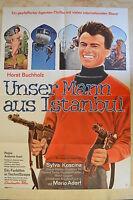 Unser Mann De Estambul - Cartel Película A1 - Horst Buchholz - Klaus Kinski -