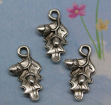 16pcs retro style The leaves on the fruit alloy charms pendants 22*13mm