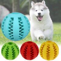 Treat Dispensing Dog Toy Puppy Chew Play Teeth Pet Rubber Ball Bite Training Cat