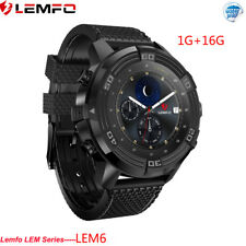 LEMFO LEM6 Impermeable Sport Reloj Inteligente 2018 WIFI GPS Frecuencia Cardíaca