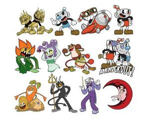 Cuphead - Pin Badges Choose Your Own   Mugman - The Devil - Cagney Carnation