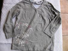 T-Shirt, Shirt Langarm Gr. 110/116 TCM , Grau/ Weiß, neuwertig