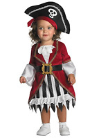 Disguise Infant Pirate Princess Costume Dress Up Halloween Toddler Size 12-18 Mo