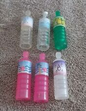 BARBIE KEN DOLL HOUSE KITCHEN DINING FOOD DISHES - 6 WATER DRINK BOTTLES