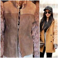 Vtg Shearling Sheepskin Curly Wool Real Fur Sleeve Jacket Coat DOLL Med Carven