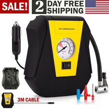 Tire Inflator Car Air Compressor Electric Pump Portable Auto 12V DC Volt 100 PSI