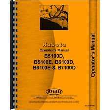 New Operators Manual Made for Kubota Tractor Model B7100D