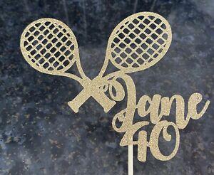 Personalised Tennis Cake Topper