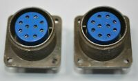 Lot of 2 NEW Amphenol Mil Spec Circular 10-Pole Solder Connectors, MS3102A18-1S