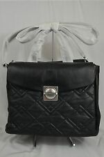 NWT Marc By Marc Jacobs Circle in Square Quilted Large Leather Satchel Black