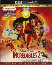 DISNEY PIXAR THE INCREDIBLES 2 4K ULTRA HD & BLURAY & DIGITAL SET with Brad Bird