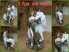 FAIRY WITH UNICORN ELFEN FÈES FATINA VERDE FATA CON UNICORNO NO LES ALPES