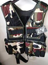 Zaf Paintball Tactical Vest Forest Camo - 9 Pod Holders + Tank Holder