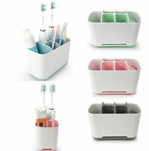 Toothbrush Holder Shelf Bathroom Stand Storage Organizer Home Bath Draining Rack