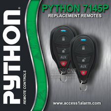 Pair (2) Of Python 7145P 4-Button Replacement Remote Controls New Style and Look