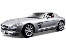 Maisto 1:18 Mercedes Benz Sls Amg Diecast Model Racing Car Silver New In Box