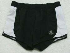 "Old Navy Athletic Shorts Womens Medium 30"" x 5"" Polyester Drawstring Black White"
